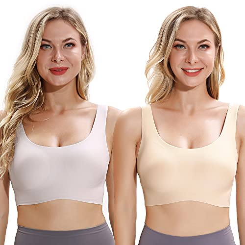 SANQIANG Women's Seamless Magic Bra Stretchy Breathable One Size Everyday's Bra