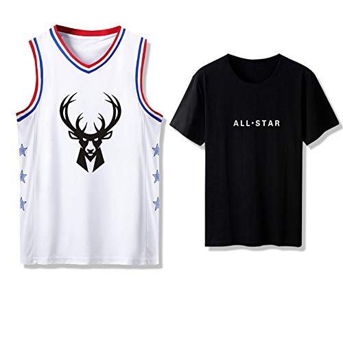 Z/A Milwaukee Bucks DIY Basketball-Uniform Adult Basketball Trainingslager Trikot,S