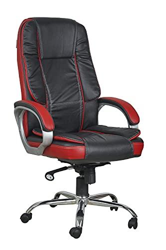 Casa Copenhagen High Back Leatherette Executive Office/Ergonomic Chair/Director Chair- Dark Black Red