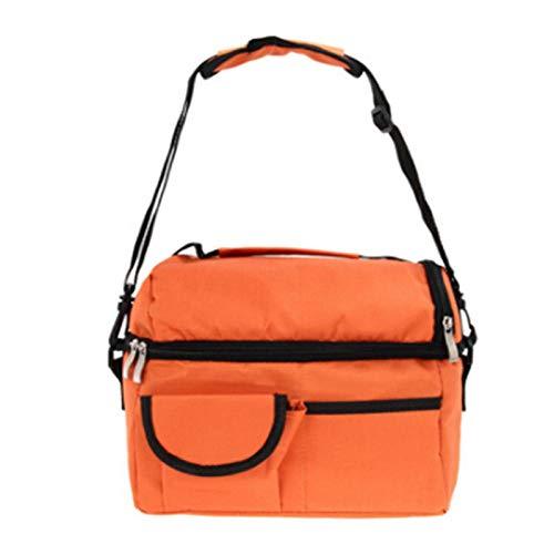 Picknicktasche Kleine Kühltasche Für Unterwegs Lebensmittel Gekühlter Beutel Großer Doppelter Eisbeutel Isolierbeutel Muttermilch-Aufbewahrungsbeutel Flasche Mumienbeutel Lebensmittelkühlbeutel-Orange