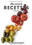 Mon Carnet de Recettes Healthy - 100 Fiches Recettes à compléter: Joli carnet de recettes à compléter | 7x10 pouces | 100 fiches faciles à remplir ... | Cadeau livre de cuisine personnalisé