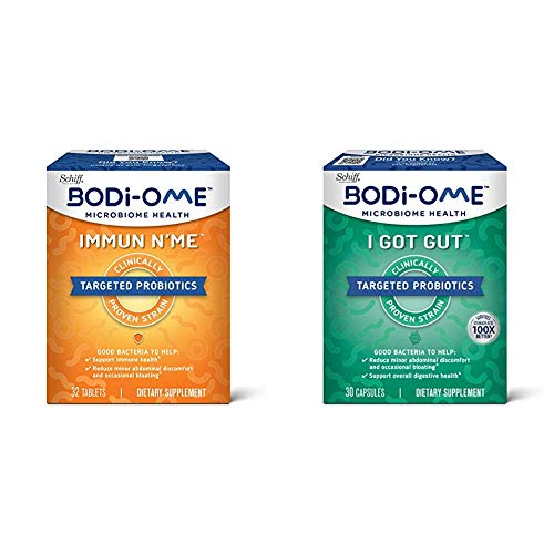 Probiotic Capsules, Bodi-Ome Immune N'Me (32 Count in a Box) with Probiotic Capsules, Bodi-Ome I Got Gut (30 Count in a Box)