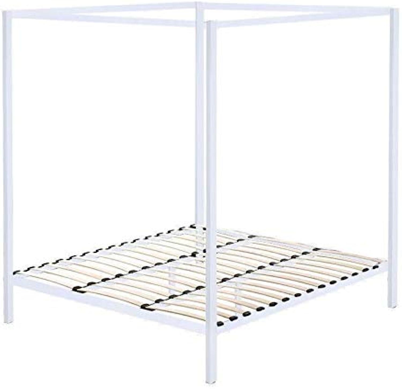 White King Four Poster Metal Bed Frame
