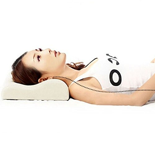Slow Rebound Memory Foam Contour Pillow with Washable Bamboo Pillow Cover Sleep Neck Pain Relief Cushion