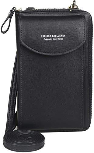 Tasche Handy Geldbörse für Damen, große Kartenfächer, Handtasche,Multifunktions-Clutch mit Reißverschlusstasche