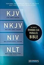 The Complete Evangelical Parallel Bible: King James Version, New King James Version, New International Version, New Living Translation, Black, Bonded Leather