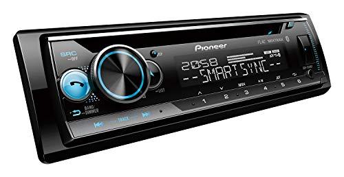 Pioneer DEH-S510BT | 1DIN Autoradio | CD-Tuner mit RDS | Bluetooth | MP3 | USB und AUX-Eingang | RGB – Beleuchtung | Bluetooth Freisprecheinrichtung | Smart Sync App | 13-Band Equalizer | Spotify