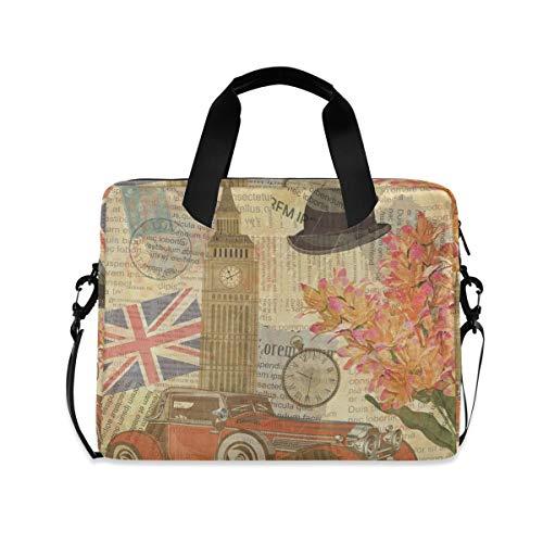 XIXIXIKO - Bolsa para portátil con diseño de Big Ben de Londres, con correa desmontable para viajes de trabajo, negocios, iPad, MacBook