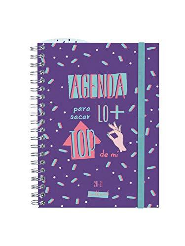 Finocam - Agenda Curso 2020-2021 Octavo-120x164 Semana Vista Apaisada Top Morado Español