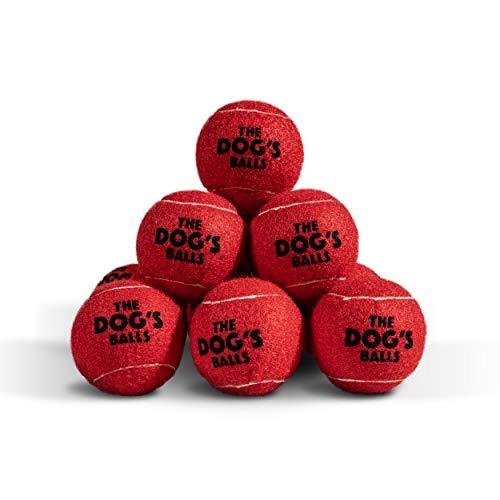 The Dog's Balls Hundetennisbälle in 3 Größen, 4 Farben, hochwertiges Hundespielzeug, Premium Stabiler Ball