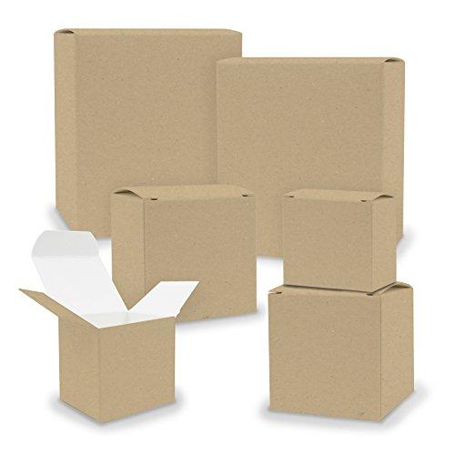 itenga Schachteln V2 24x Quader Würfel gemischt BRAUN Boxen zum Basteln