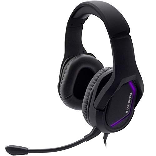 Oversteel - Auriculares gaming ZAMAK con micrófono, RGB y sonido estéreo