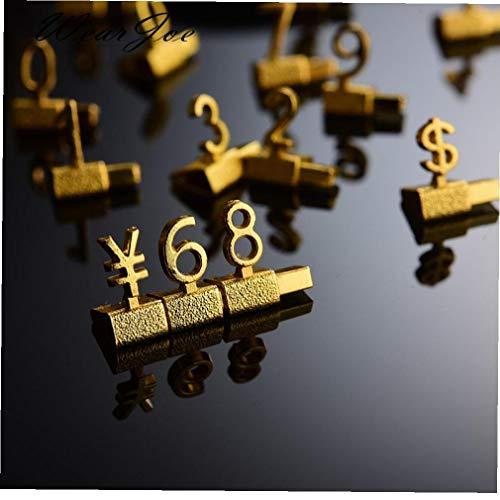 AMOYER 3D estanterías metálicas Precio Ajustable Llamadas Mostrar Precio Euro Libra Precio Numeral Asamblea Cubos Lable Bloques Palo