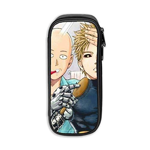 Durable Doppelreißverschluss Bleistift Box für Office Travel, Manga One Punch Man Genos Liebe Saitama Bing Zähne Marker Fällen Tasche, Mode Münztüte für Frauen Männer