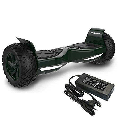 COLORWAY Hoverboard All-Terrain 8.5'' Off Road UL Certified with APP Built-in Bluetooth Speakers and Carry Bag
