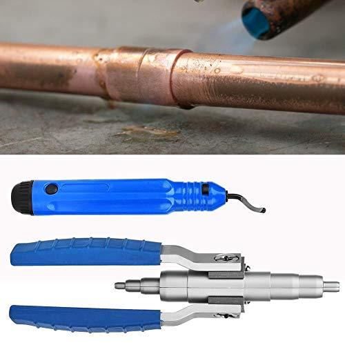 Espansore per tubi in rame, protetto 1/4'5/16' 3/8'1/2' 5/8'3/4' 7/8'Espansore per tubi in rame con strumento di sbavatura del tubo Strumento di installazione del condizionatore d'aria