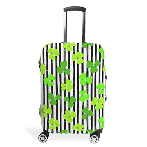 St Patrick's Day 3D Digital Printing Various Types Travel Luggage Sets Travel Luggage Cover Suitcase Protector Washable 19 to 32 Inch for Journey White s (19-21 inch)