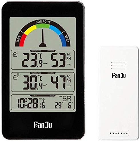 ZWFS Elektronische weersvoorspelling Klok voor Draadloze Weerstation Thuis Binnen En Outdoor Draadloze Sensor met Temperatuur En Vochtigheid Alarm