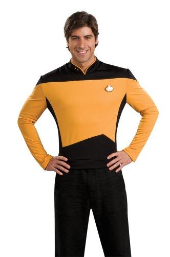 Rubie's mens Star Trek the Next Generation Deluxe Lt. Commander Data Adult Shirt Costume, Gold, Medium US