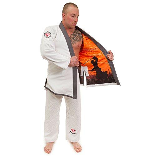 KO Sports Gear Kids Akagi Hemp Blend Gi - BJJ Kimono and Pants - for Jiu Jitsu (M1)