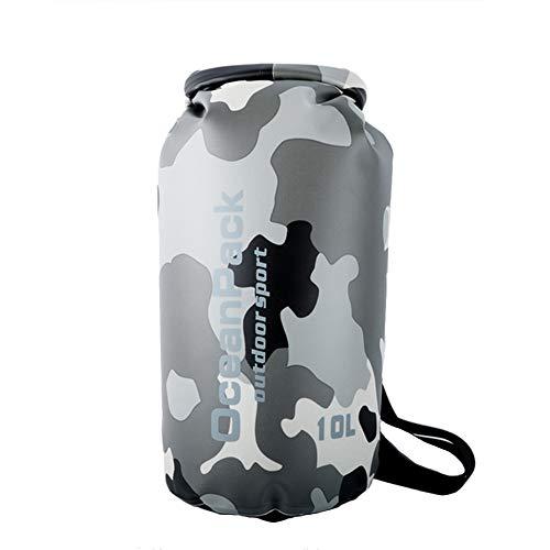 Icegrey Bolsa Seca Impermeable Bolsas Estancas Dry Bag para Rafting, Kayak navegación Senderismo, esquí, Buceo, Pesca, Escalada, Camping Gris 30L