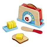 Melissa & Doug Bread and Butter Toaster Set - Wooden Play Food and Kitchen Accessories, Multi Color toasters Jan, 2021