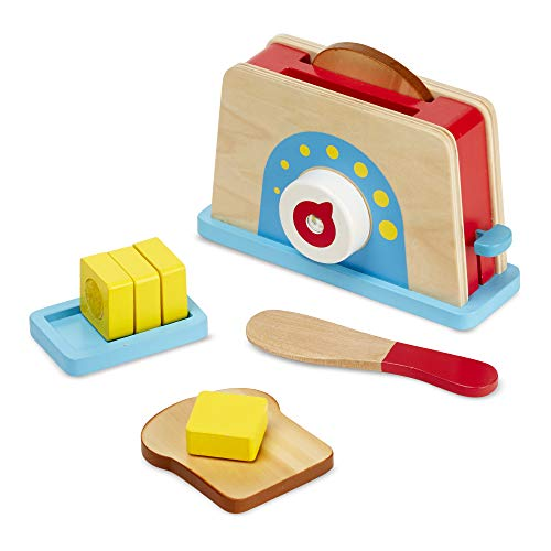 Melissa & Doug Toast Bread & Butter Toaster Set, Multicolor (19344)