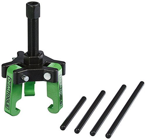 "OEMTOOLS 25090 Harmonic Balancer Puller Kit, Adjustable 3-Jaw Puller Fits Most Late Model Automobiles & Trucks, Forcing Screw Fits a 3/8"" Square Drive, Includes 4 Forcing Rods, 6 Piece"