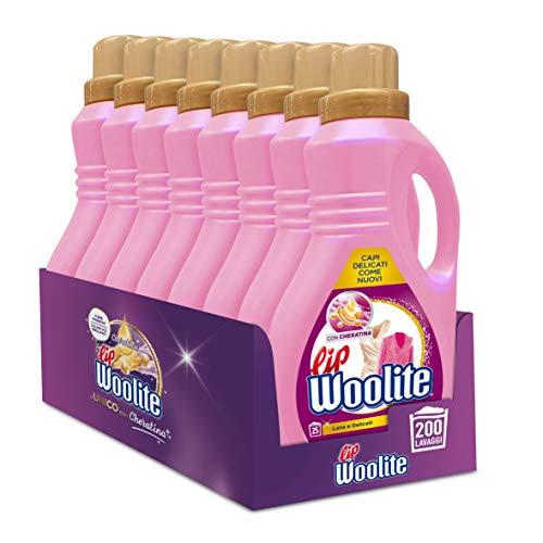 Lip Woolite Detersivo Lavatrice Liquido, Detersivo Per Capi Delicati, Lana E Capi Delicati, 200 Lavaggi, 8 Confezioni Da 25 Lavaggi