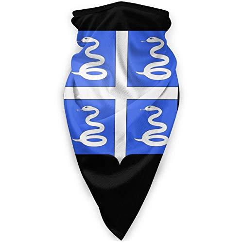 WlQshop emblème National de la Martinique Cache-Cou Plus Chaud Coupe-Vent Couverture du Visage écharpe Couverture de Sports de Plein air