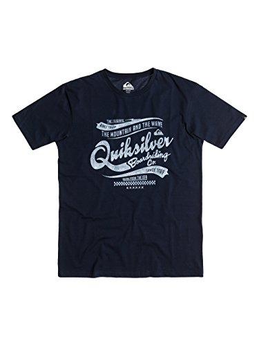 Quiksilver Classic T-Shirt manches courtes Homme Navy Blazer FR : M (Taille Fabricant : M)