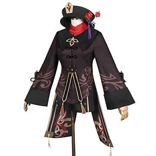 GJSC Genshin Impact Cosplay Disfraz Cosplay Traje con Sombreros Cosplay Anime Juego de rol Halloween Uniforme Conjunto para Mujer S