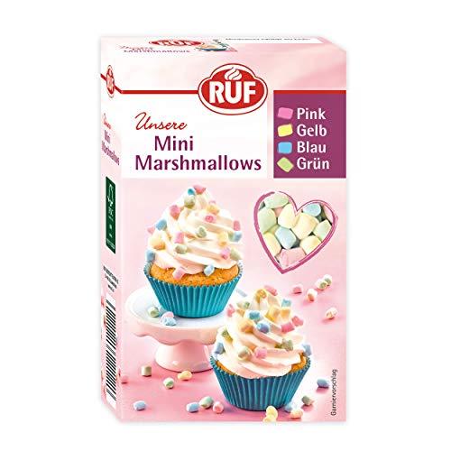 RUF Mini Marshmallows Mäusespeck Schaumzucker Pastellfarben, bunt, 10er Pack (10 x 45 g)
