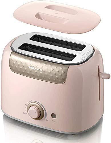 Broodmachines, Broodrooster Volautomatische Thuis Breakfast 2 Slices Broodrooster Driver Toast (Kleur: Roze) ZHW345