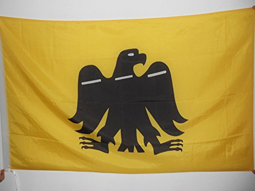 AZ FLAG Bandera del Pais Vasco ARRANO BELTZA 90x60cm para Palo - Bandera Vasca Aguila Negra 60 x 90 cm