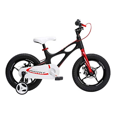 seveni Kids' Bikes, Children's Bicycle 14 Inch Boy and Girl Cart 4-12 Year Old Student Scooter Outdoor Mountain Bike Portable Bicycle (Color : Black, Size : 14in)
