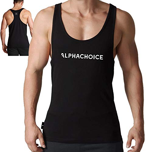 Alphachoice Original Gym Stringer Tank Top Herren - Fitness Stringer Fitnesstuidio Kleidung (XL)