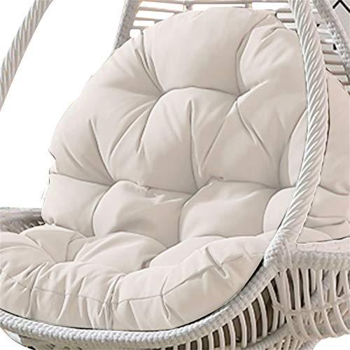 Cojín de asiento para silla colgante, cojín para silla de balanceo, cojín grande y suave, redondo, para interior y exterior, dormitorio, terraza, jardín, 86 x 120 cm