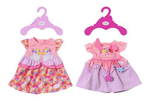 Zapf Creation Baby Born Dresses 1 Puppenkleid zufällige Auswahl - Zubehör für Puppen (Kleid für Puppen, 3, Baby Born, Mädchen, 43 cm) Modell sortiert