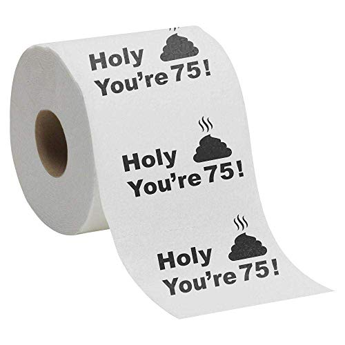 Holy Crap - You're 75! Toilet Paper Gag Gift