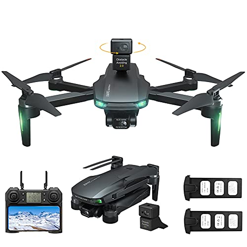 Yasola GPS Drones with 4K HD Camera for Adults,3 Axis Gimbal Camera,Obstacle Avoidance,EIS Anti-Shake, 5G WIFI FPV, Long Flight Time,Brushless Motor, Auto Return Home(2 batteries)