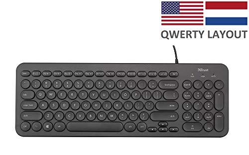 Trust Muto Stil Toetsenbord Keyboard, Zwart