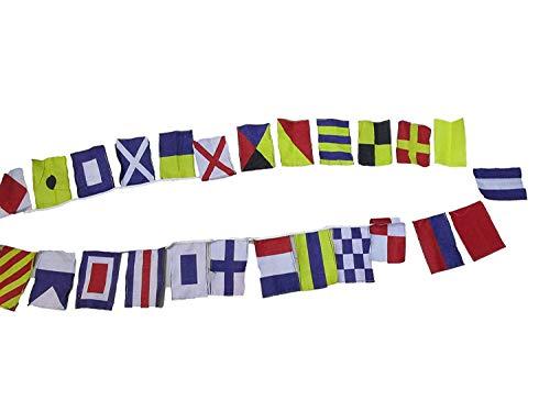 Strandparty Signal-Code-Flagge – 26 Wimpelkette – 7,6 m – nautisch/maritim (5180)