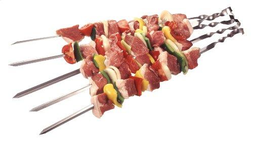 Grillspieße Schaschlikspieße Fleischspieße Eckig