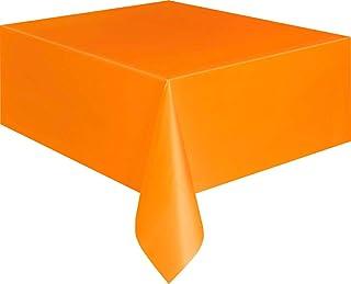 Unique Party 5097 - Orange Plastic Tablecloth, 9ft x 4.5ft