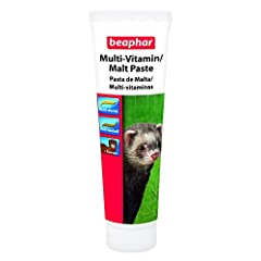 Beaphar Vitamin/Malt Paste for Ferrets is both a treat and a valuable nutritional supplement. It has a unique stripy formulation. One stripe delivers valuable vitamins and minerals such as taurine, whilst the other contains a special ingredient calle...