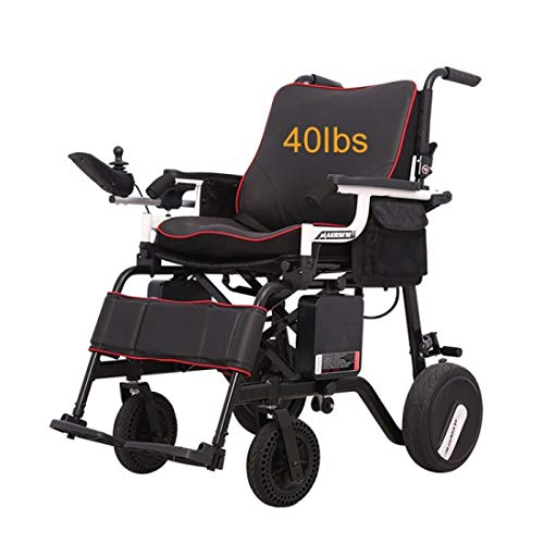 Rubicon Super Lightweight Electric Wheelchairs, Weight Only 36Lbs Support 220 Lbs, Foldable, Travel...