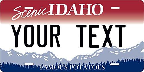 PhotoZoneGa 50 State Personalized Custom Novelty Tag Vehicle Auto Car Bike Bicycle Motorcycle Moped Key Chain License Plate (Idaho 2008)