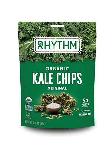 Rhythm Superfoods Kale Chips, Original, Organic and Non-GMO, 2.0 Oz, Vegan/Gluten-Free Superfood Snacks (164846)