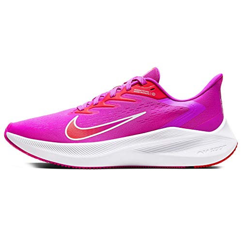 Nike Zoom Winflo 7 - Zapatillas de correr para mujer, Rosa (Rosa fuego/Summit White-Brumber Glow), 39 EU